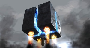 Robot Overlords Cube concept art by Paul Caitling