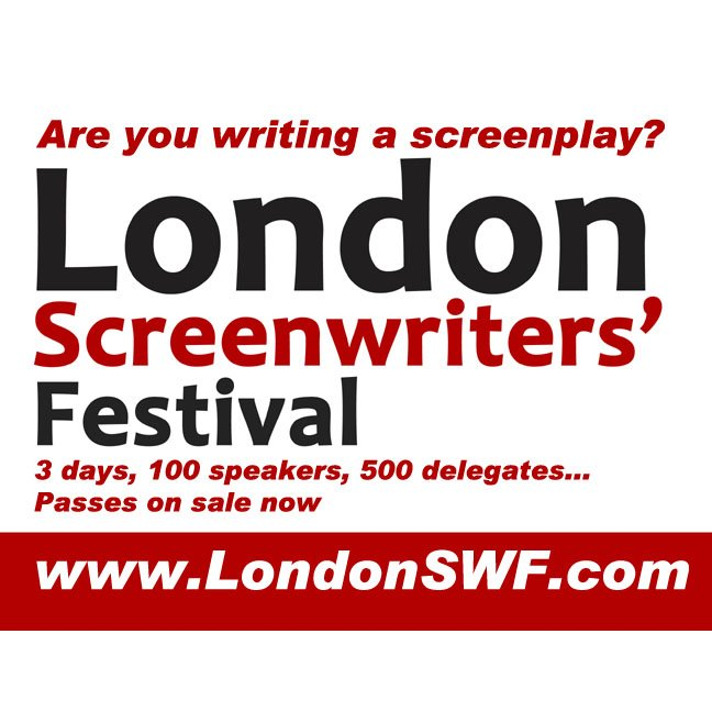 I'll be at the London Screenwriters' Festival on Saturday 24th October…