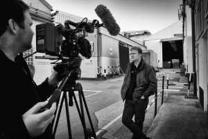 Author videos are so much cooler on the backlot of a major studio complex! Photo my www.mpsv.co.uk