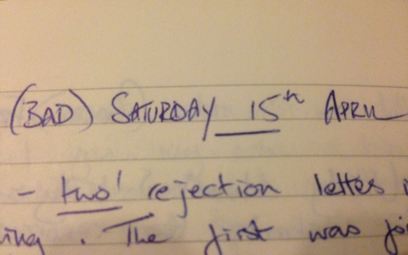 Ten Years On: My writing diary – Saturday 15th April2006
