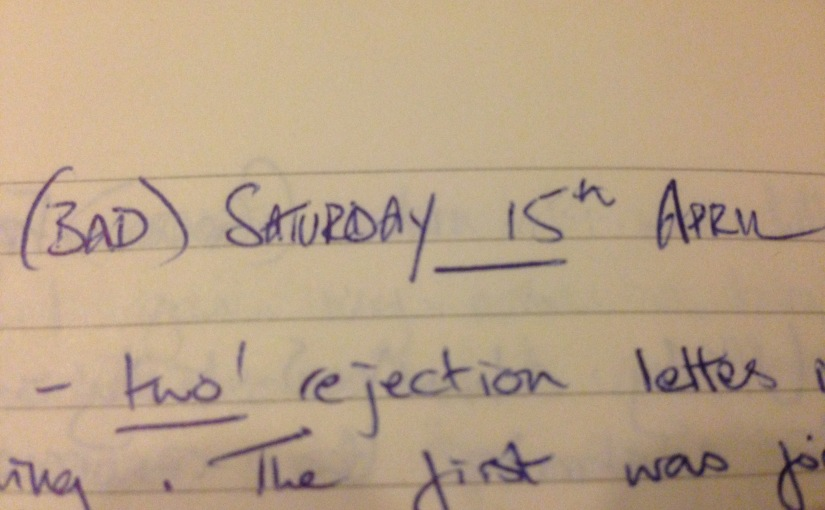 Ten Years On: My writing diary – Saturday 15th April 2006