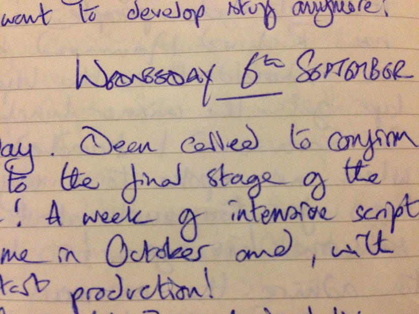 Eager or hopelessly naive? – My Writing Diary, Ten Years On, Wednesday 6th September 2006