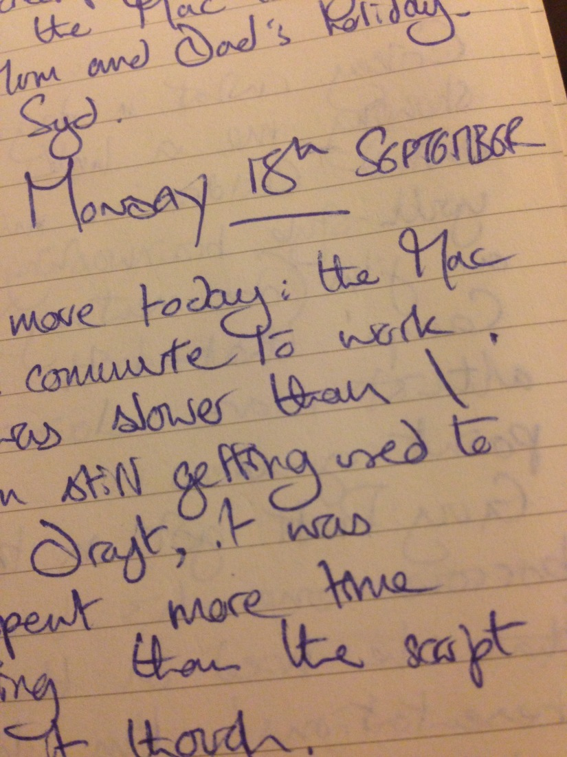 You Are Not Your Software – My Writing Diary, Ten Years On, Monday 18th September2006
