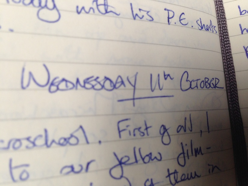 Film London Microschool: Day Three. My Writing Diary, Ten Years On, Wednesday 11th October, 2006