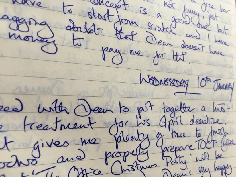 Just say No, kids! My Writing Diary, Ten Years On: Monday 8th – Wednesday 10th January, 2007