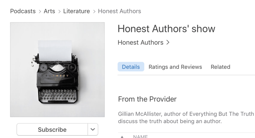 I spill the beans on the Honest Authors podcast…