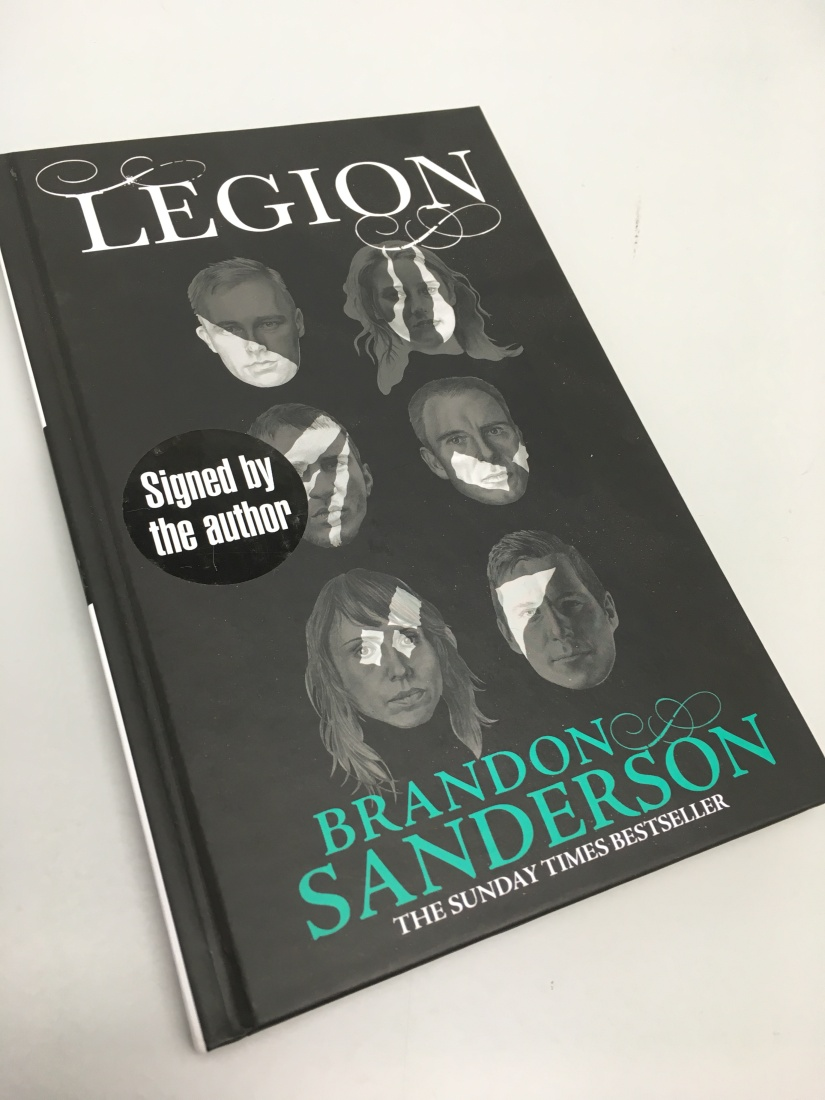 Brandon Sanderson signed Legion book giveaway