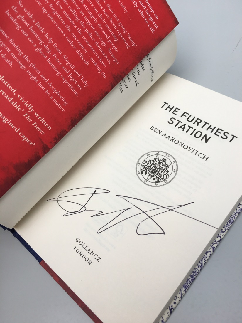 Ben Aaronovitch signed FURTHEST STATION giveaway