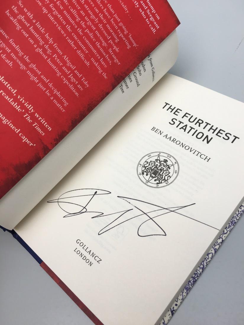 Ben Aaronovitch signed FURTHEST STATIONgiveaway