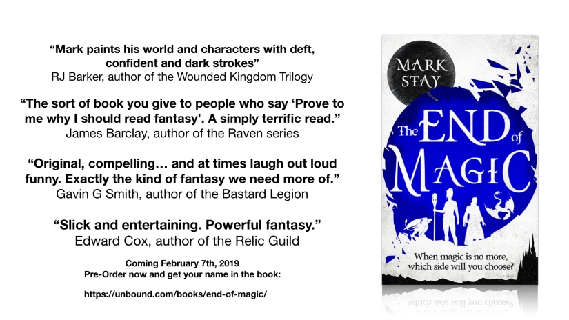 The End of Magic is available to pre-order now…